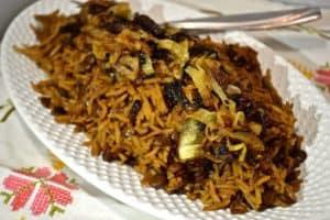 wild garden rice and lentil pilaf